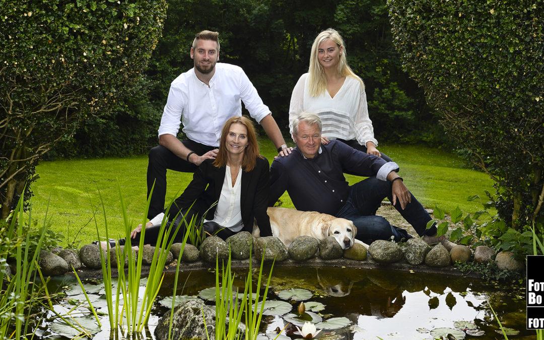 Familie fotografering, fotograferet af Fotograf Bo Nielsen