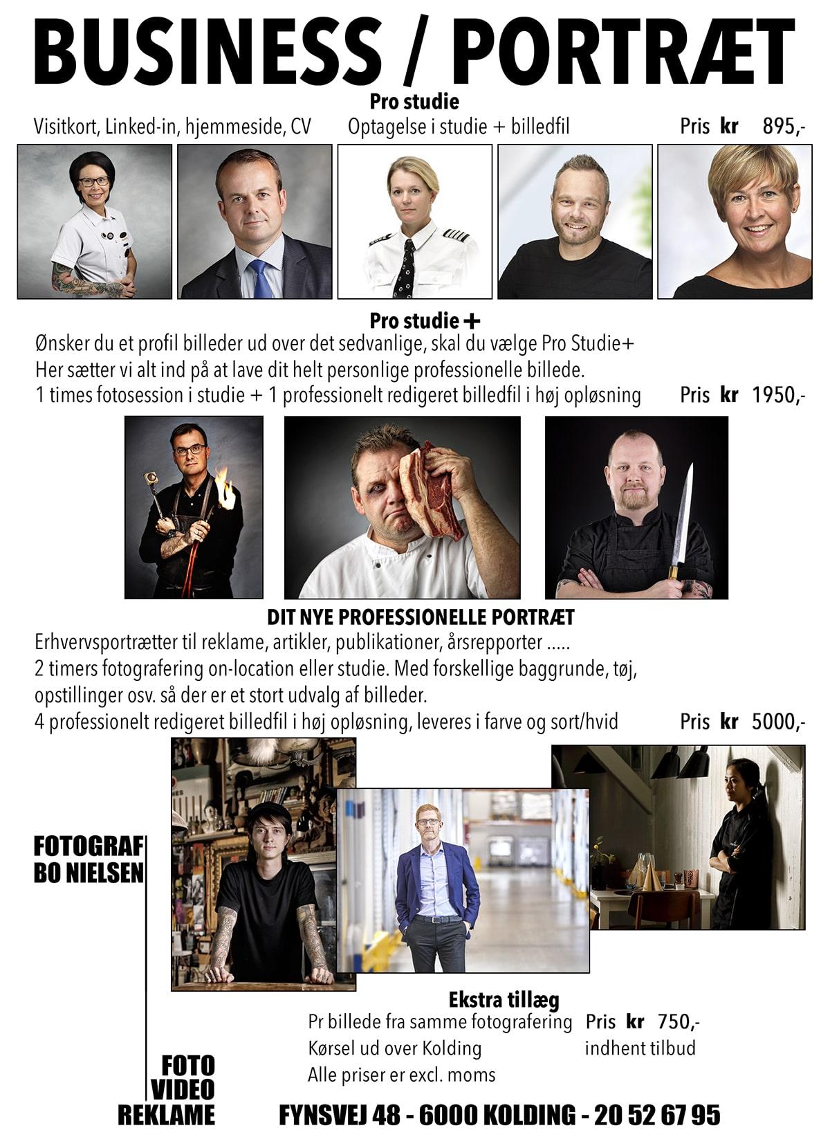 profil billeder til LinkedIn og hjemmeside, Business portrætter til erhvervslivet Fotograf Bo Nielsen
